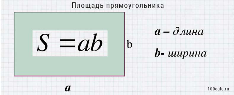 Площадь прямоугольника онлайн калькулятор с решением