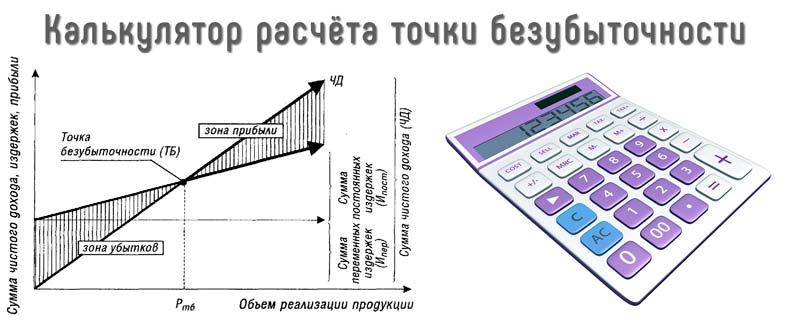 Калькулятор для расчета точки безубыточности онлайн